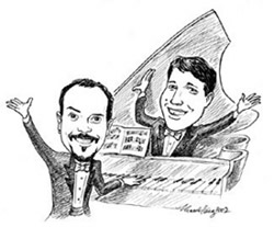 Caricature of Ben and Brad