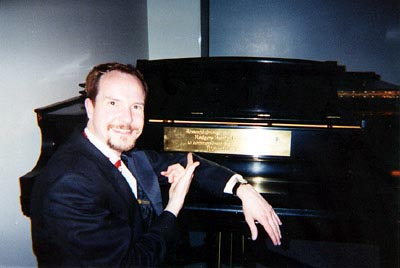 Brad with Richard Rodgers' Piano