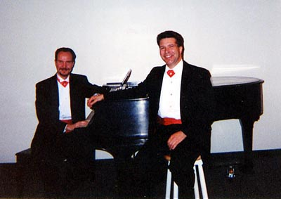 Brad and Ben with Richard Rodgers piano