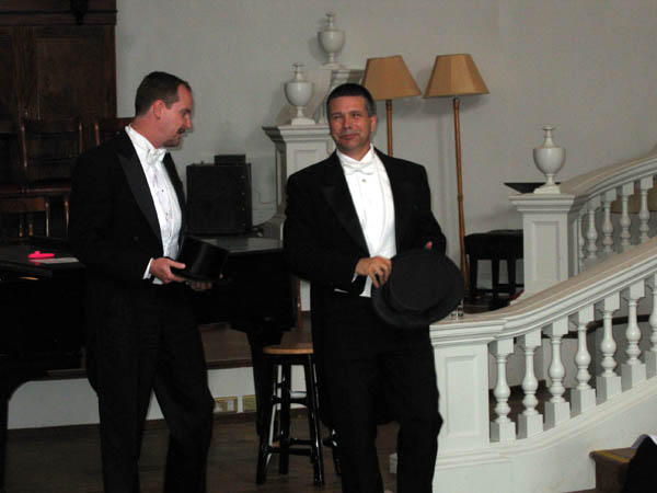 Ben and Brad performing Fred Astaire songs at the Holywell Music Room, June 25, 2008